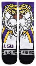 LSU Tigers Rock'em Apparel Mike the Tiger Mascot Crew Socks