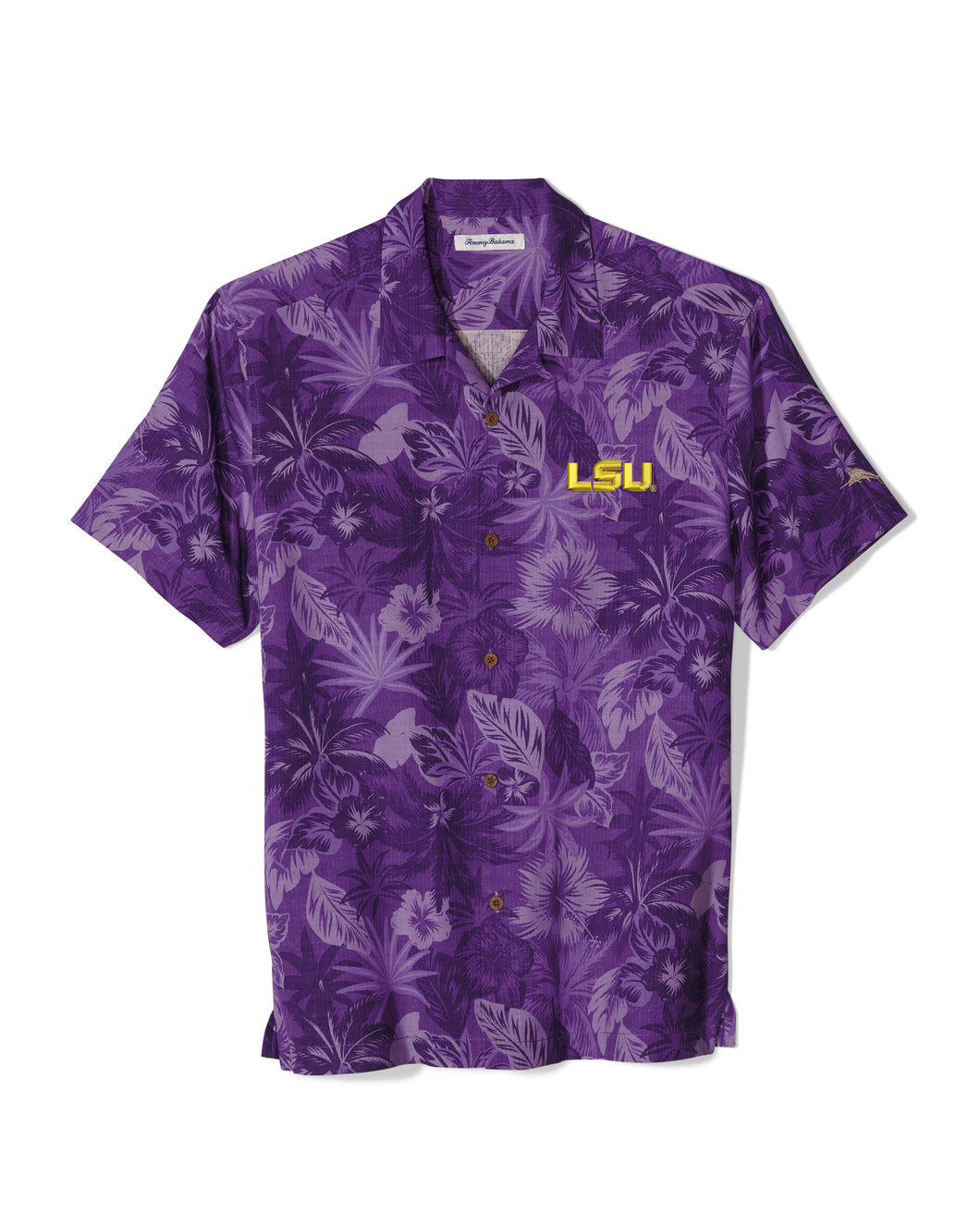 LSU Tigers Tommy Bahama Camp Shirt Floral