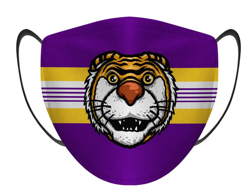 LSU Tiger Face Mask - Kids
