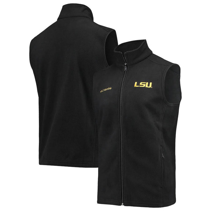 LSU Tigers Columbia Flanker Black Full-Zip Vest