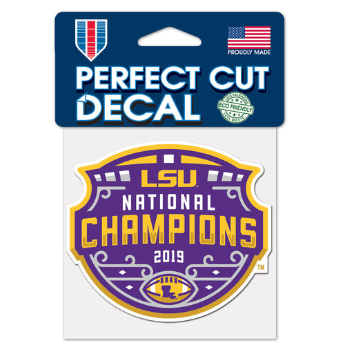 LSU Tigers 2019 National Champions Decal Perfect Cut