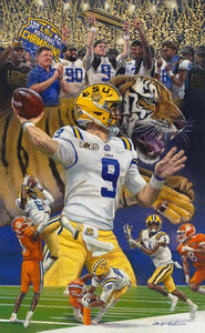 "LSU National Championship - Geaux Tigers! 10"" x 17"" Print"