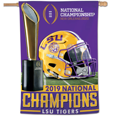 LSU 2019 National Champions Vertical Flag
