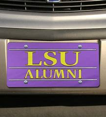 LSU Tigers License Plate Purple Alumni