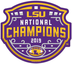 LSU 2019 National Championship Wood Sign