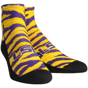 Youth LSU Rock'em Crew  Socks