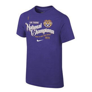 LSU Tigers 2019 National Champions Nike Youth T-Shirt