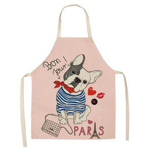 French Bulldog-Print Apron
