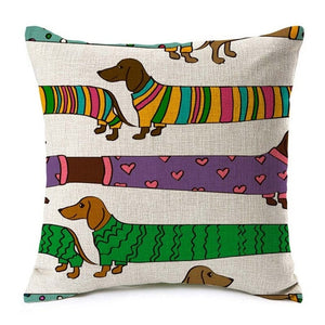 Dachshund Edit Cushion Cover - FURlosophie