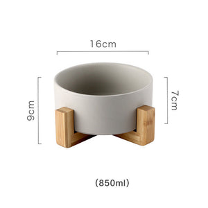 Ceramic Bamboo Elevated Pet Bowl - FURlosophie