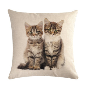 Cat Print Cushion Cover - FURlosophie