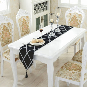 Velvet Tasselled Table Runner - FURlosophie