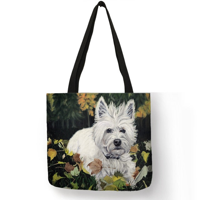 I Love Westies Shopping Tote - FURlosophie