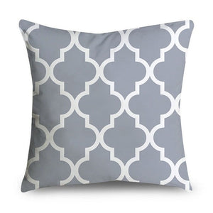 Gray Geometric Cushion Covers - FURlosophie