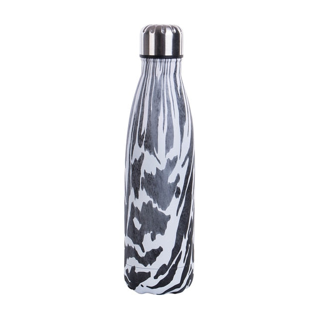 Marble-Print Vacuum Insulated Bottle - FURlosophie