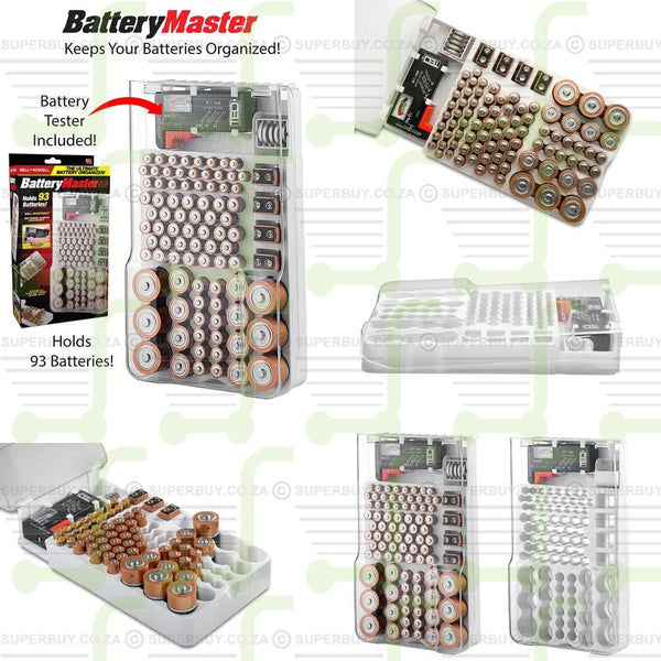 Battery Master Storage Organiser with Battery Tester