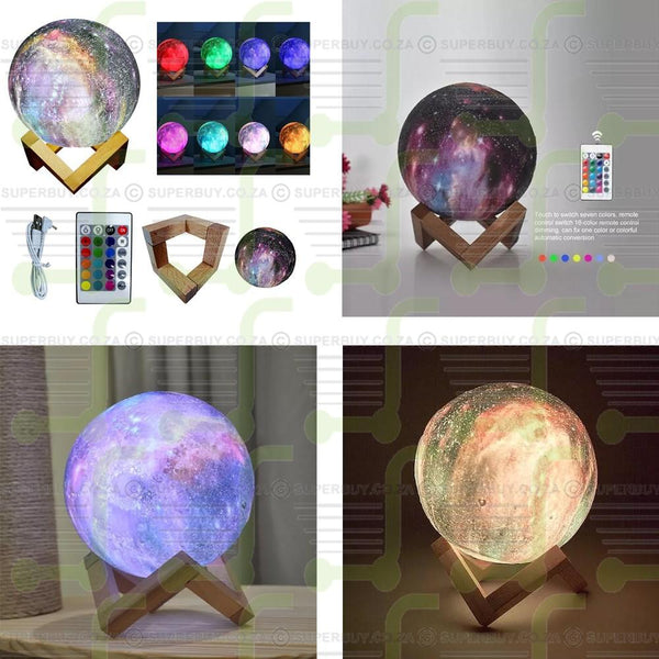 3D Galactic Out Of This World Color Changing Planet Lamp On Stand