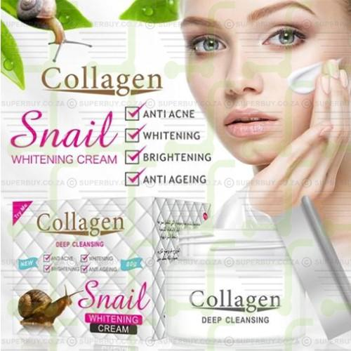 Collagen Deep Cleansing Snail Whitening Cream