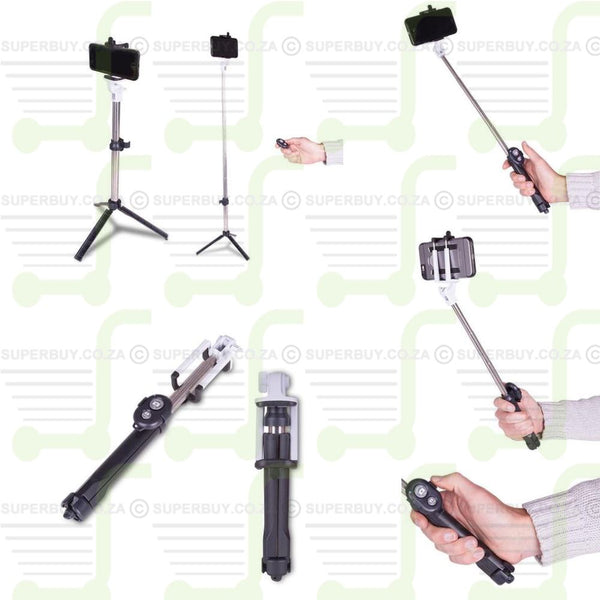 Selfie Stick with Tripod and Remote Switch