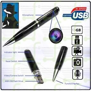 8GB Video Color Audio Spy Pen