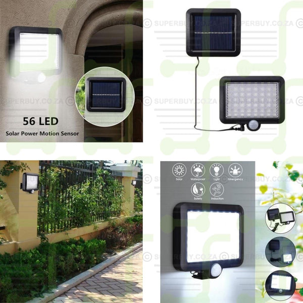LED Outdoor Solar Powered PIR Motion Sensor Light