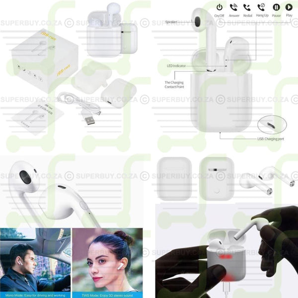 i9s TWS Wireless Bluetooth V5.0 Stereo Twin Earbuds with Charging Case