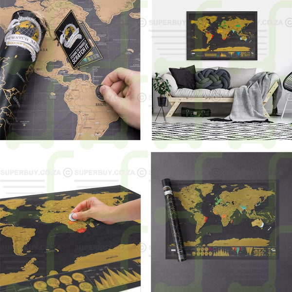 World Map Scratch Off Deluxe Edition