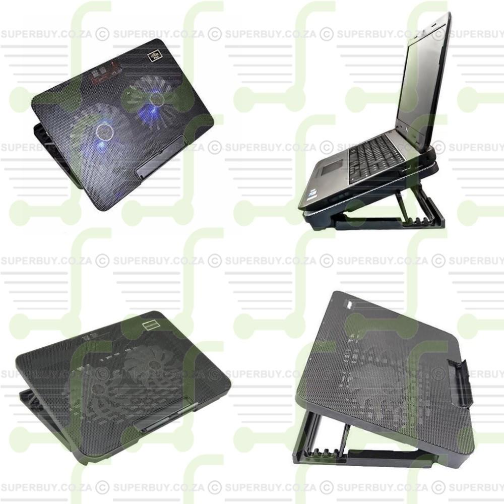 Adjustable Laptop Cooling Pad with Dual Fan