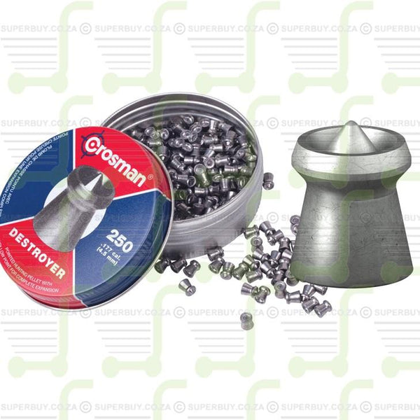 Crosman Destroyer 4.5mm .177 Caliber Ammunition Air gun Air Rifle Pellets - Tins of 500