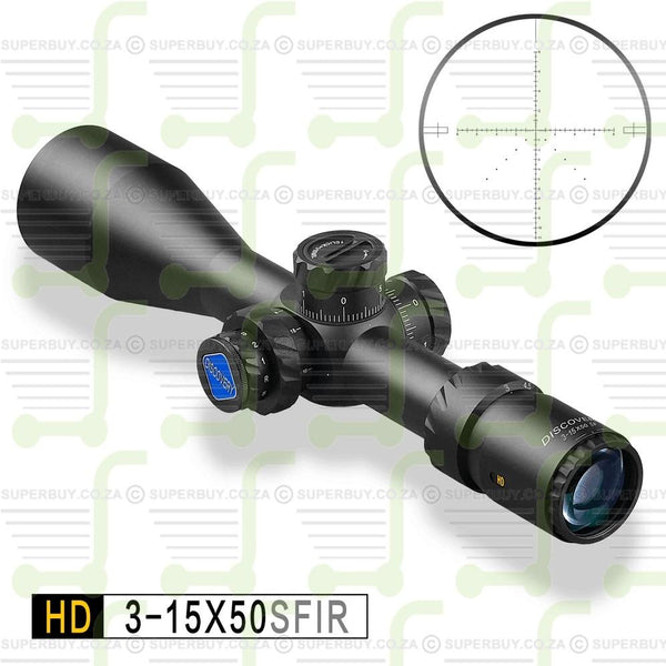 Discovery HD 3-15x50 SFIR Scope Reticle DLTW SFP IR-MIL