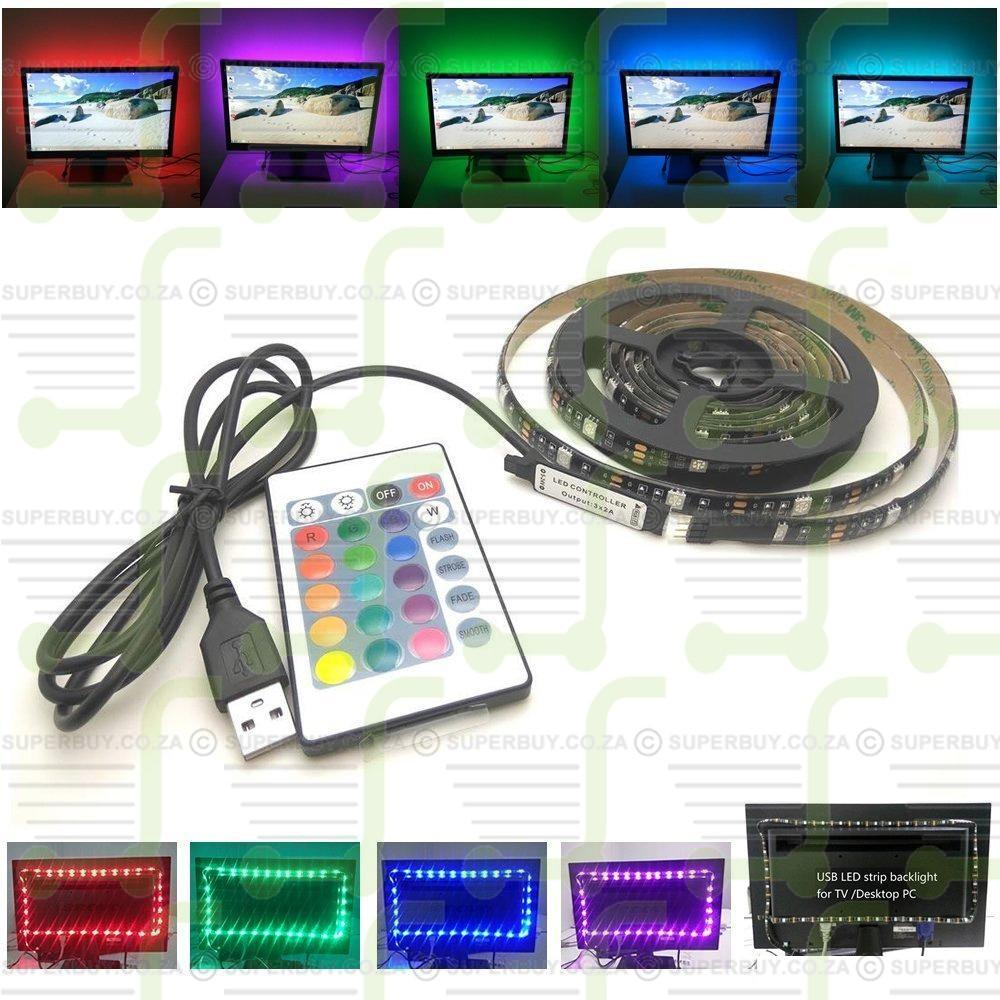 5V USB LED Backlight 2M RGB 60LED Strip