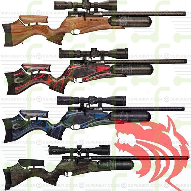 Daystate Red Wolf Safari Red Laminate HP HiLite PCP Air Rifle 5.5mm .22cal