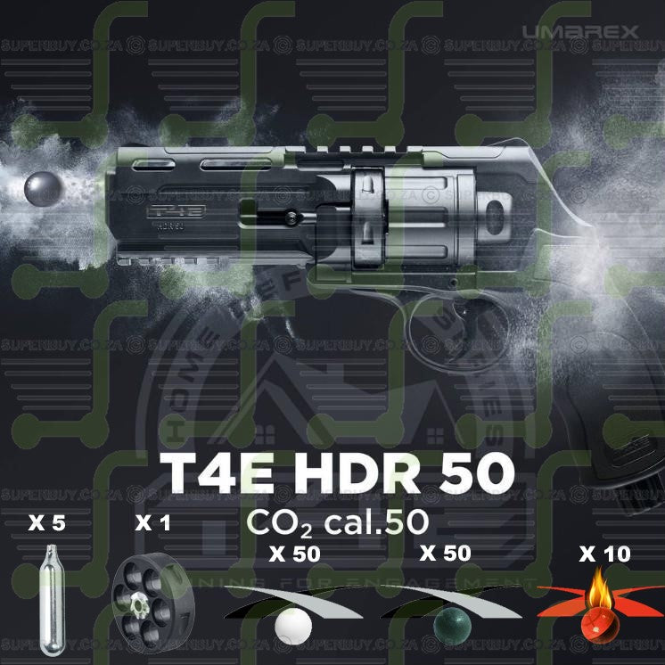 Umarex T4E HDR 50 Home Kit 1 Self Defence Pepper Revolver CO2 .50 cal