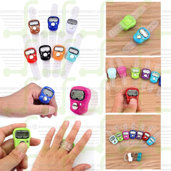 Digital Ring Finger Tally Counter Counting Device