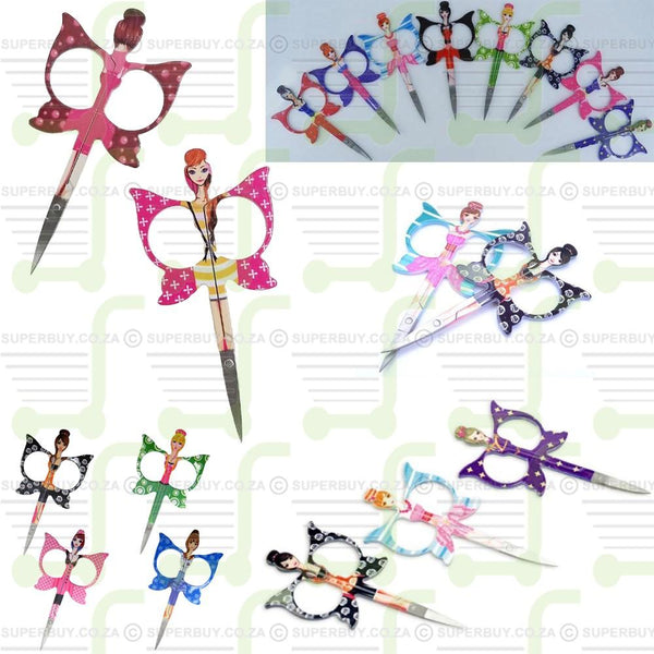 Manicure Nail Scissors Butterfly Princess Pattern Design
