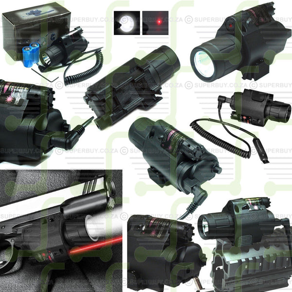 Tactical Weapon Red Laser with 200 Lumen Flashlight