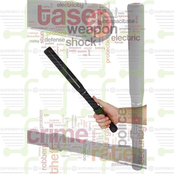 Stun Gun Baton 1110 Black and Bright Torch