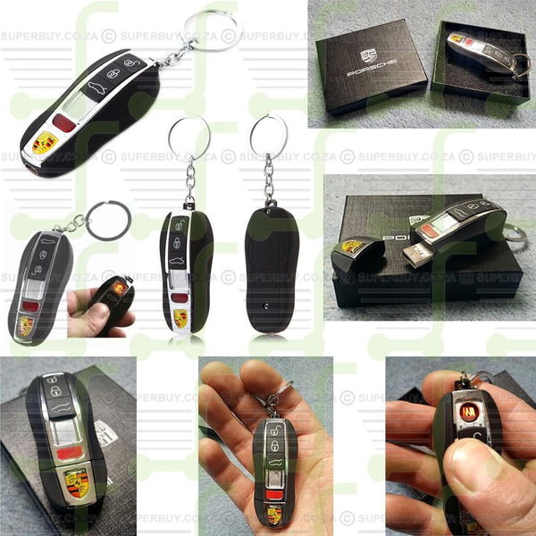 Vintage Retro Porsche Panamera Shaped Car Key, USB Rechargeable Lighter No Flame Windproof Light Tor