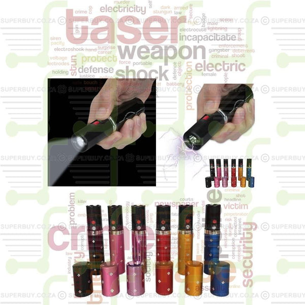 Mini Lipstick 1202 Self Defense Electric Shock Stun Gun With LED Flashlight
