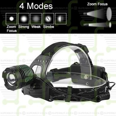 800LM CREE V2 XM-L T6 Rechargeable LED Adjustable Zoom Headlight Headlamp Torch Car Charger
