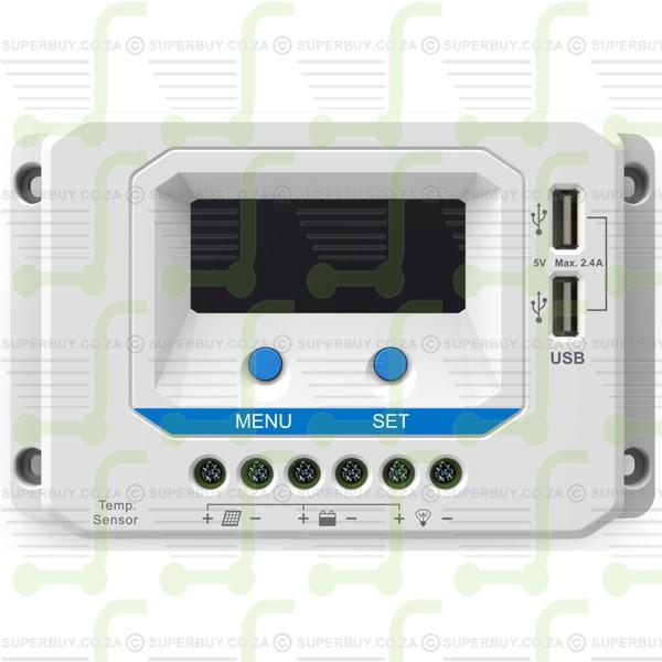 Solar Charge Controller 20A Solar Panel Controller 12V/24V with USB/LCD Display