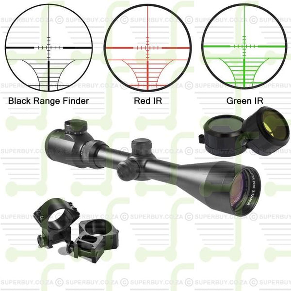 3-9x40 Scope IR Illuminated Reticle Range Finder