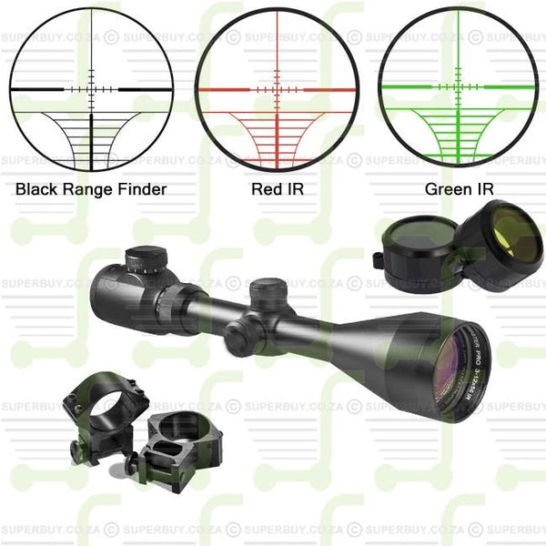 3-9x50 Scope IR Illuminated Reticle Range Finder