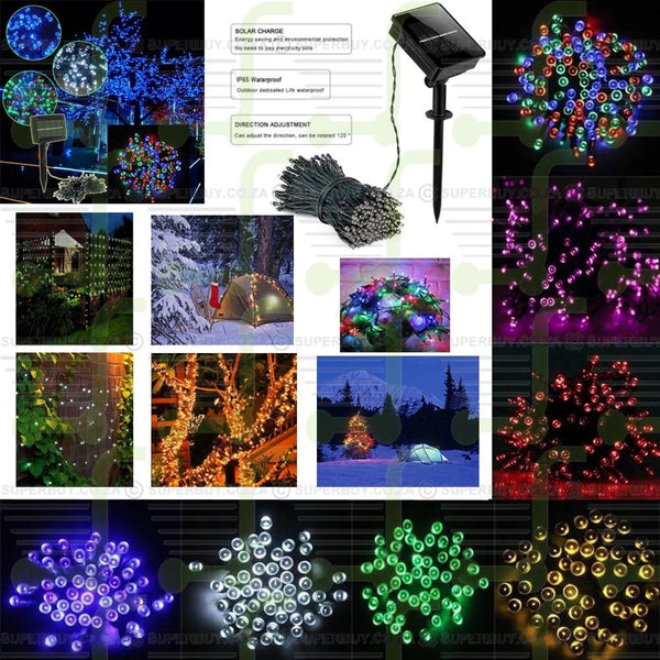 5m with 50 LEDs Solar String Fairy Lights (White)