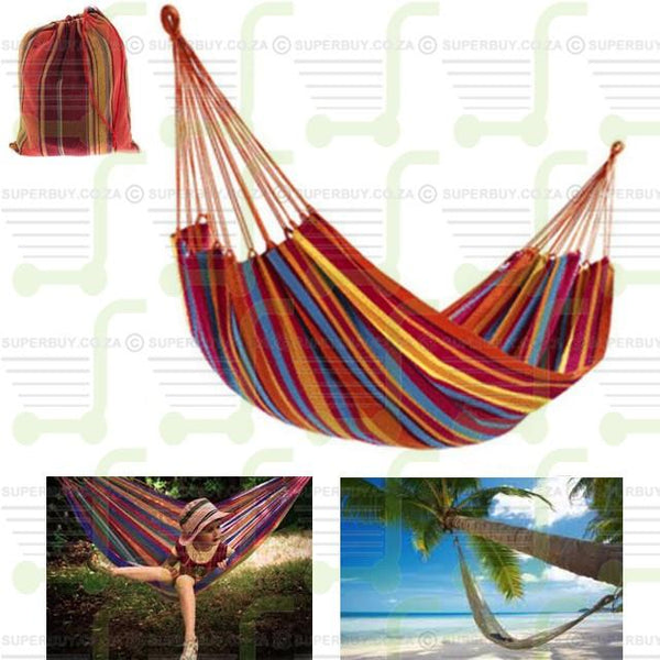 Hammock Material Canvas Bed Camping Outdoor Travel Beach Hammock