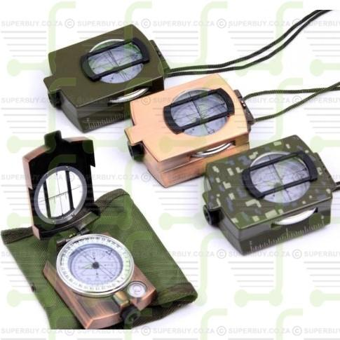 Military Lensatic Compass Prismatic Multifunctional Outdoor Camping Exploration Fluorescent