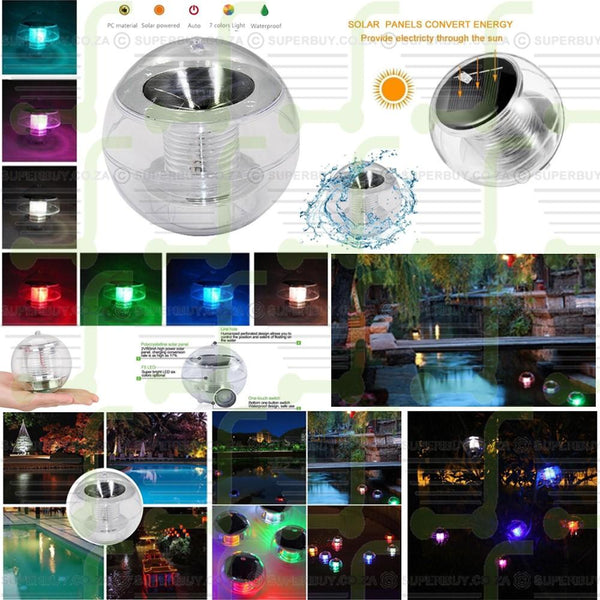 7 Color Changing Solar Floating Light Waterproof Float Ball Light for Garden Pools Pond Lake