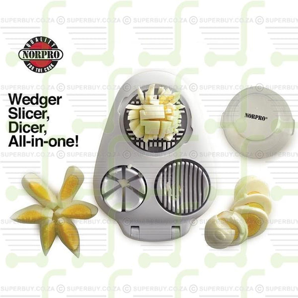 Progressive 3-In-1 Egg Slicer, Dices Slices and Wedges