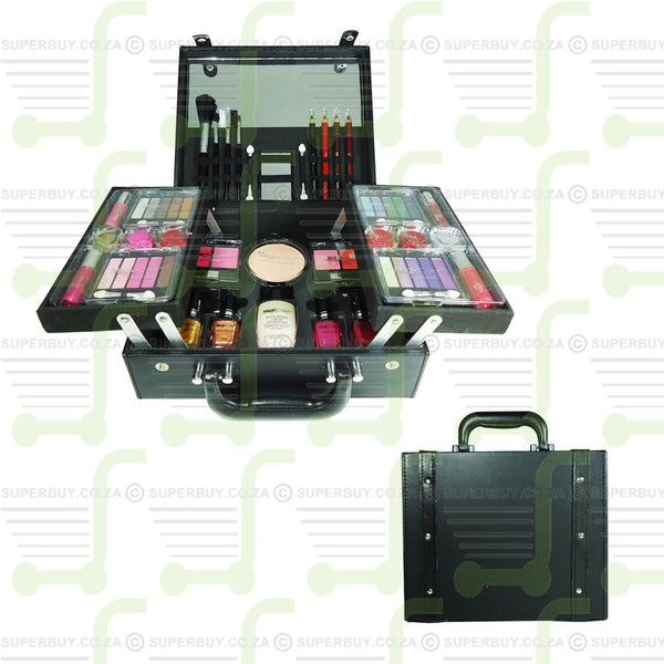 Make-up Kit Carry Case Collection Black Folding
