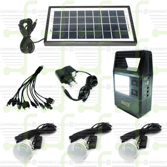 Rechargeable Solar Charging Digital Lighting Kit